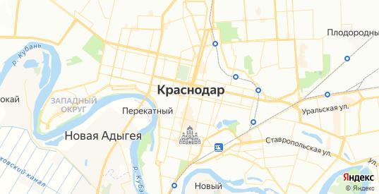 Карта Краснодара с улицами и домами подробная. Показать со спутника номера домов онлайн