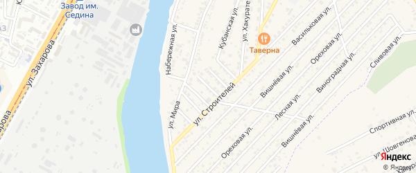 Строителей 1-й проезд на карте Нового поселка Адыгеи с номерами домов
