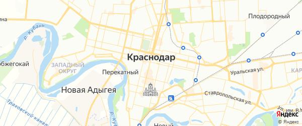 Карта Краснодара с районами, улицами и номерами домов