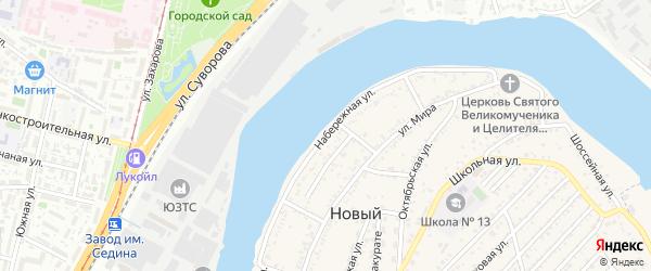 Набережная улица на карте Нового поселка Адыгеи с номерами домов
