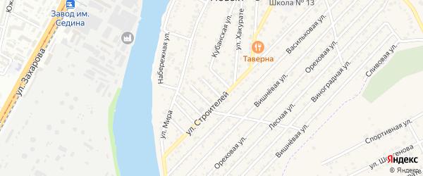 Строителей 2-й проезд на карте Нового поселка Адыгеи с номерами домов