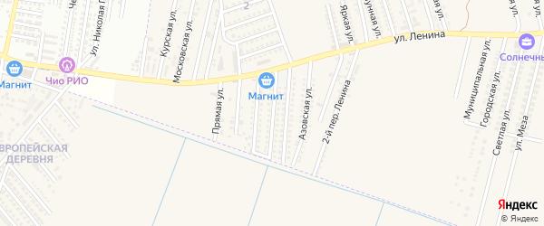 Черноморская улица на карте аула Козет с номерами домов