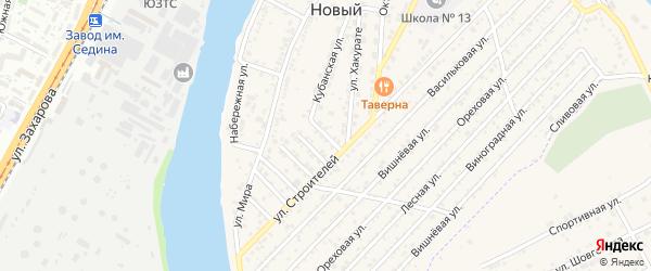 Строителей 3-й проезд на карте Нового поселка Адыгеи с номерами домов