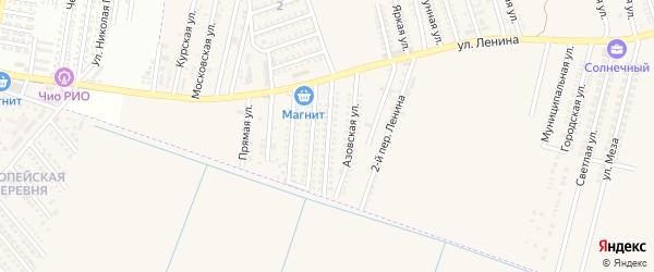 Каспийская улица на карте аула Козет с номерами домов