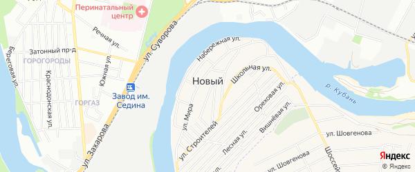 Садовое товарищество Гигант на карте Нового поселка Адыгеи с номерами домов