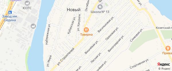 Улица Строителей на карте Нового Адыгеи с номерами домов