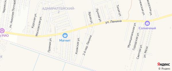 Ленина 1-й переулок на карте аула Козет Адыгеи с номерами домов