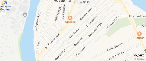 Новая улица на карте Юбилейный-93 Адыгеи с номерами домов