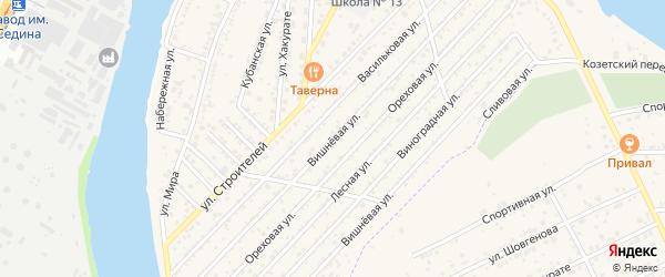 Вишневая улица на карте Юбилейный-93 Адыгеи с номерами домов