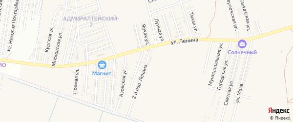 Ленина 2-й переулок на карте аула Козет Адыгеи с номерами домов