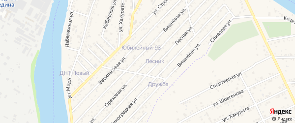 Ореховая улица на карте Юбилейный-93 Адыгеи с номерами домов