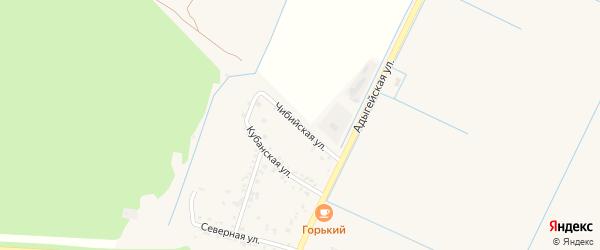 Чибийская улица на карте аула Тахтамукая Адыгеи с номерами домов