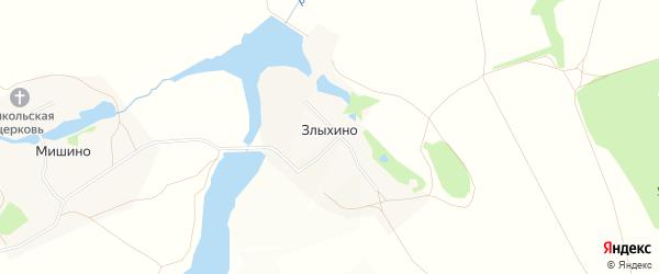 Карта деревни Злыхино города Зарайска в Московской области с улицами и номерами домов