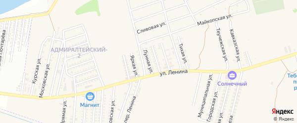 Лунная улица на карте аула Козет Адыгеи с номерами домов