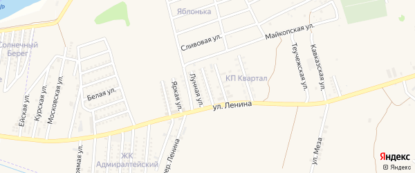 Полярная улица на карте аула Козет Адыгеи с номерами домов