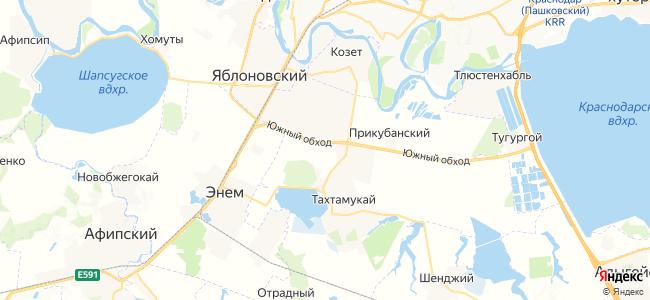 Тахтамукай на карте