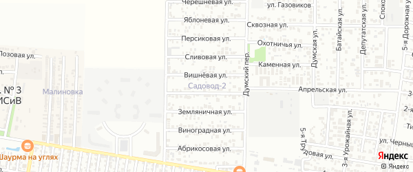 Облепиховая улица на карте садового некоммерческого товарищества Садовода с номерами домов