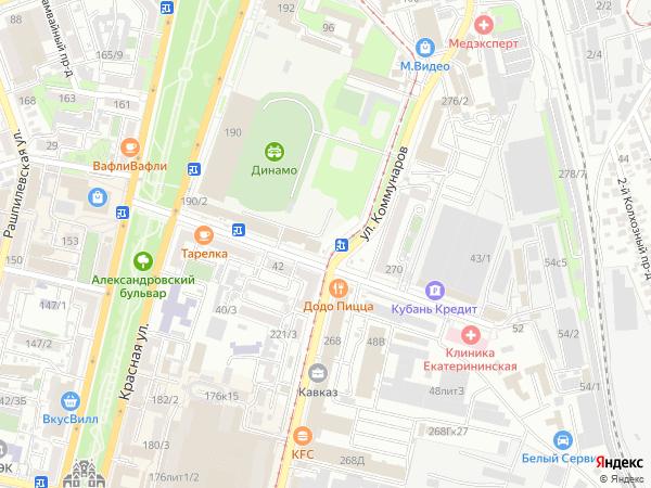 Краснодар: улица Коммунаров, 227 с номерами домов