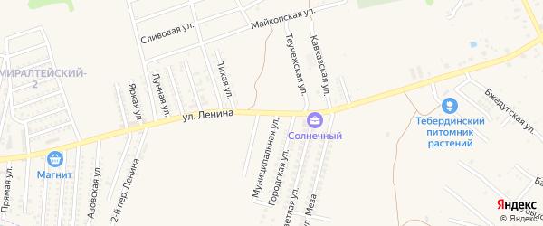 Улица Ленина на карте Нового поселка Адыгеи с номерами домов