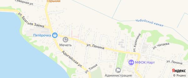 Улица М.М.Сообцокова на карте аула Тахтамукая с номерами домов