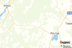 Карта пос. Борисоглебский Ярославская область