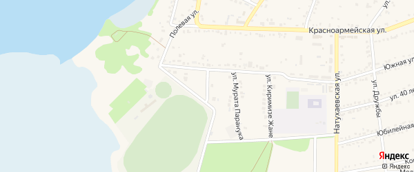 Улица Костанова на карте аула Тахтамукая Адыгеи с номерами домов