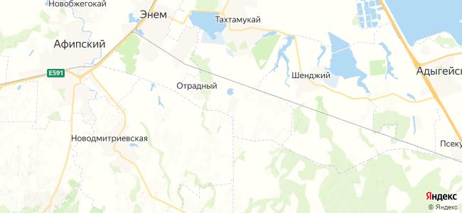 Натухай на карте