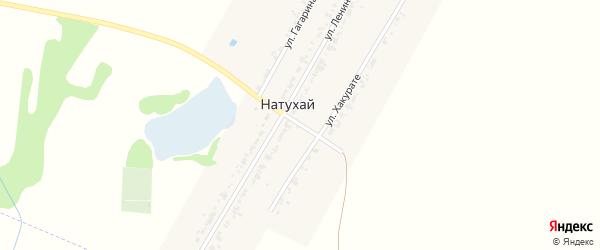 Степной переулок на карте аула Натухая с номерами домов
