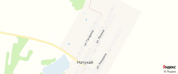 Улица Ю.Гагарина на карте аула Натухая Адыгеи с номерами домов