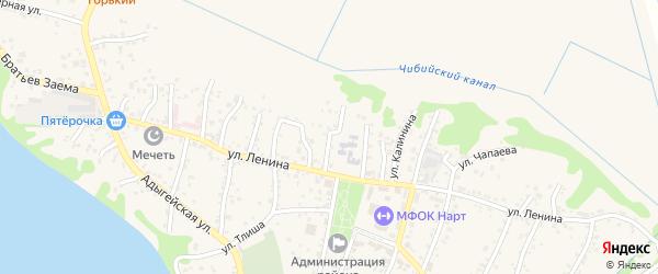 Улица В.Ч.Мезох на карте аула Тахтамукая Адыгеи с номерами домов