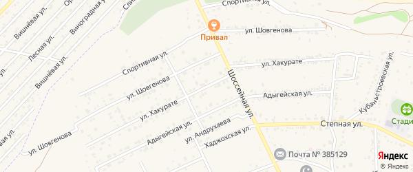 Улица Хакурате на карте аула Козет Адыгеи с номерами домов