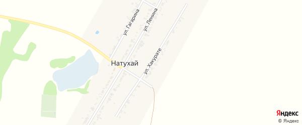 Улица Хакурате Ш. на карте аула Натухая Адыгеи с номерами домов