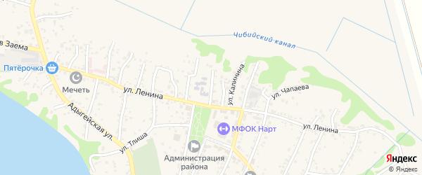 Школьная улица на карте аула Тахтамукая Адыгеи с номерами домов