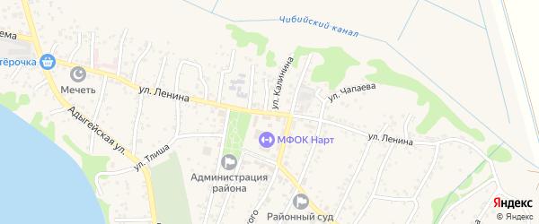 Улица В.И.Ленина на карте аула Тахтамукая Адыгеи с номерами домов
