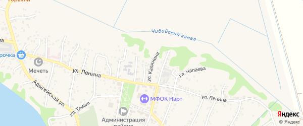 Улица М.С.Калинина на карте аула Тахтамукая Адыгеи с номерами домов