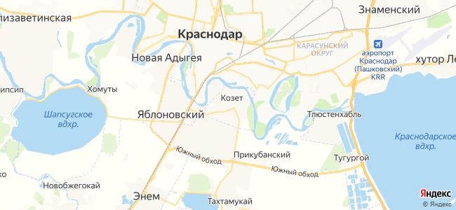 Козет на карте