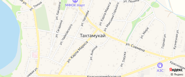 Улица им Сообцокова Ч.Т. на карте Дахаба Адыгеи с номерами домов