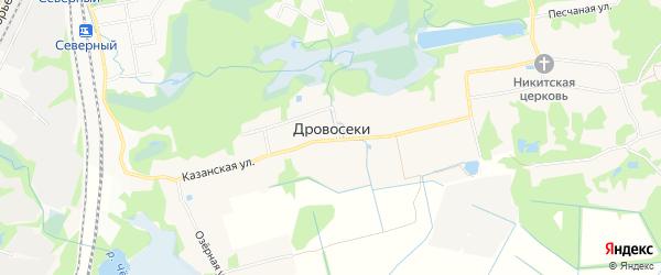 Карта деревни Дровосеков города Орехово-Зуево в Московской области с улицами и номерами домов