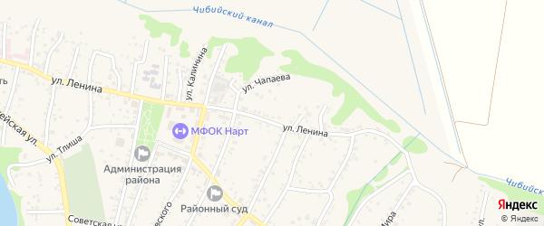 В.И.Ленина 3-й переулок на карте аула Тахтамукая с номерами домов