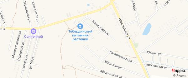 Бахартукская улица на карте аула Козет с номерами домов