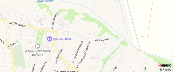 В.И.Ленина 3-й переулок на карте аула Тахтамукая Адыгеи с номерами домов
