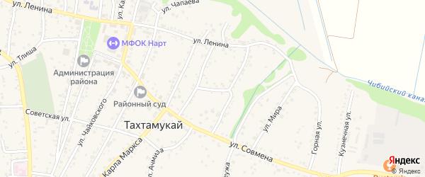 Улица Л.Толстого на карте аула Тахтамукая Адыгеи с номерами домов
