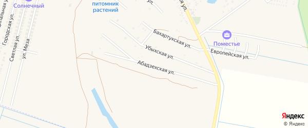 Абадзехская улица на карте аула Козет Адыгеи с номерами домов