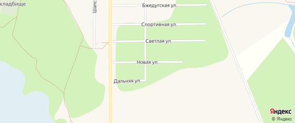 Новая улица на карте аула Тахтамукая Адыгеи с номерами домов