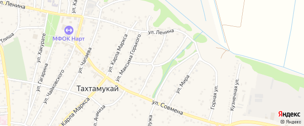 Улица Х.Андрухаева на карте аула Тахтамукая Адыгеи с номерами домов