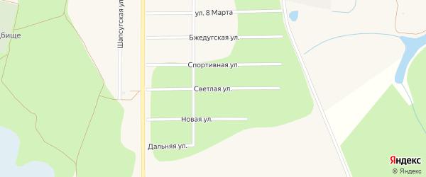 Светлая улица на карте аула Тахтамукая Адыгеи с номерами домов