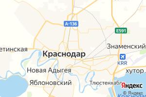 Карта г. Краснодар Краснодарский край