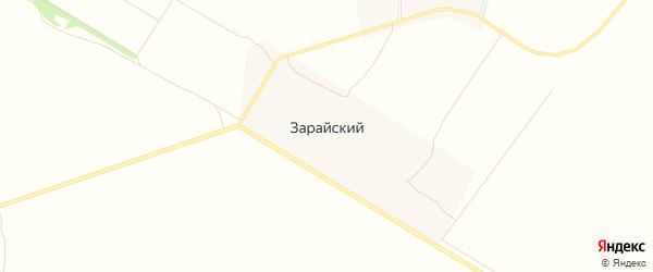 Карта Зарайского поселка города Зарайска в Московской области с улицами и номерами домов