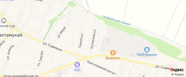 Кузнечная улица на карте аула Тахтамукая Адыгеи с номерами домов