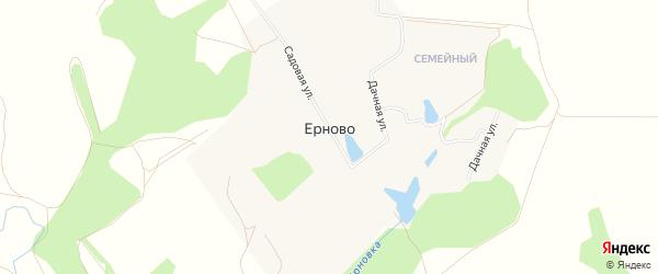Карта деревни Ерново города Зарайска в Московской области с улицами и номерами домов